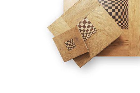 Quadro con inserto artistico in legno