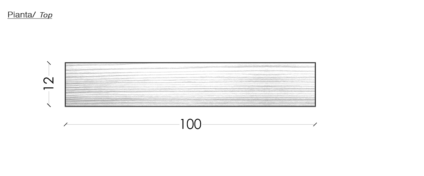 Mensola legno massello