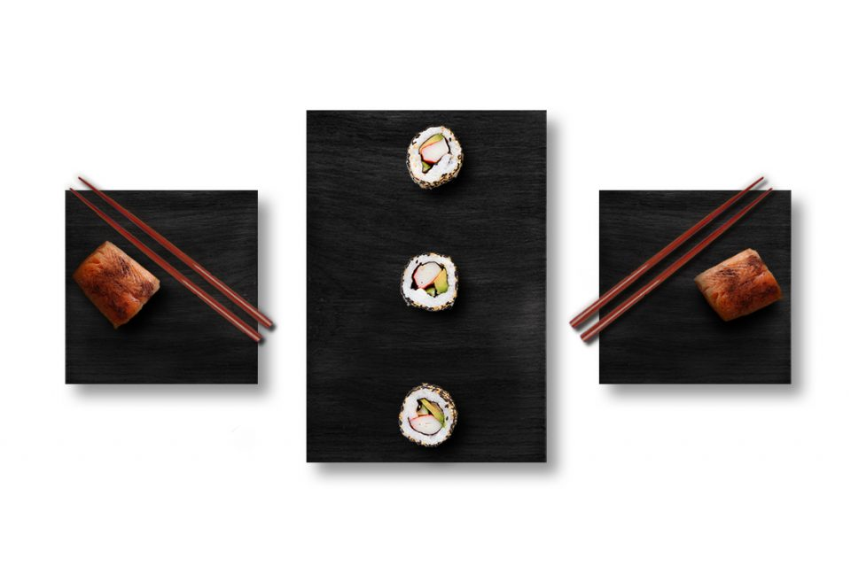 Sushi set rovere nero
