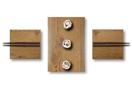 Piatti sushi in legno